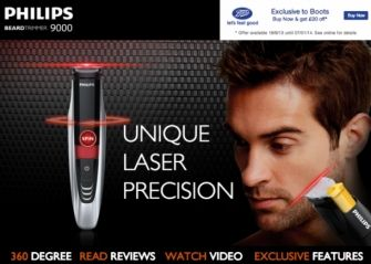Now an electric shaver which gives laser precision to beard trimming. Go look like George Michael or Prince Philips Beard Trimmer 9000 | Wicfy