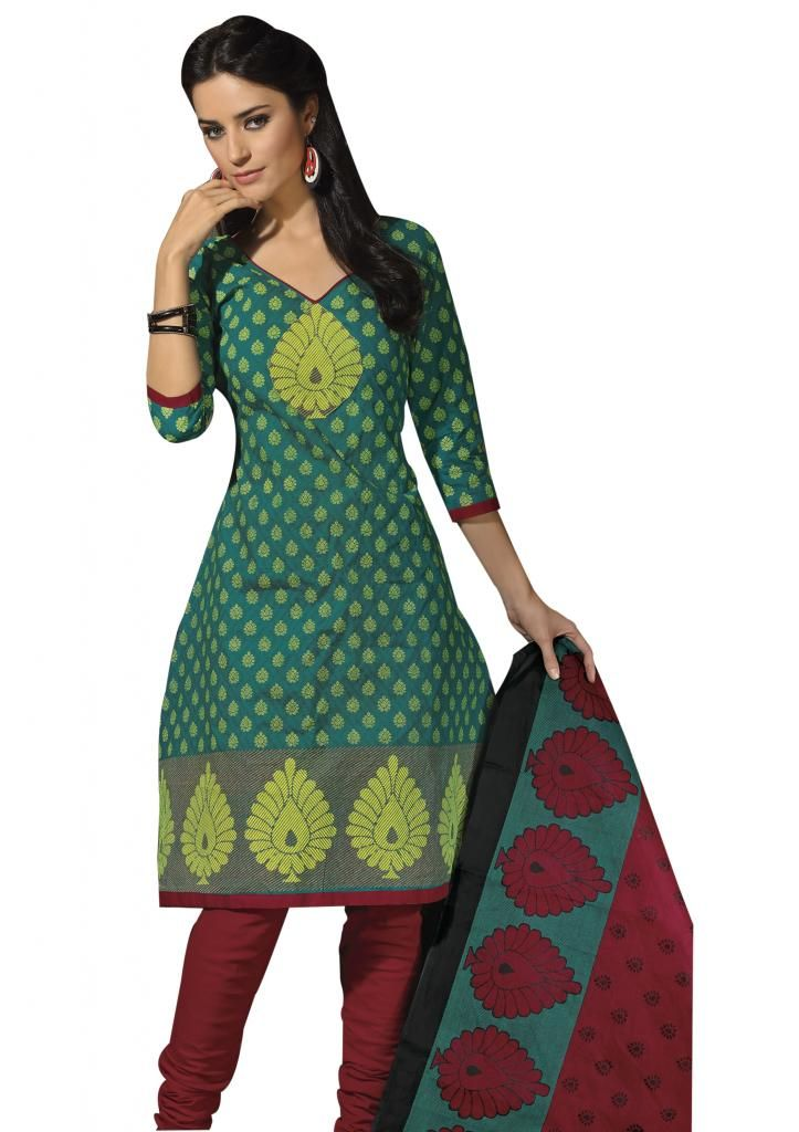 """#Cotton #Stitched suits ONLY for 1,499/-. 100/- #Discount on Coupon Code """"EQ100"""".  Size : Large, Medium, Small, X-Large, X-Small, XX-Large.  *Free Shipping *Easy Returns*COD Available !!!  Shop Here: http://www.ethnicqueen.com/eq/stitched-suits/"""