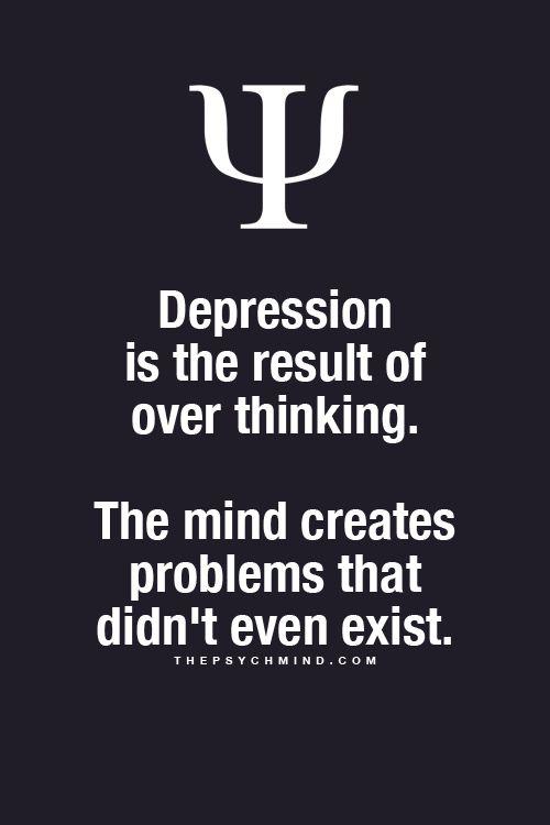 Dépression serait le fait de trop penser, alors vive les simples d'esprit...