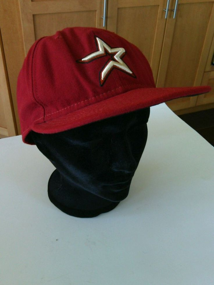 Houston Astros Baseball Cap Red Gold Hat Size 7.1/2 MLB Authentic 59Fifty Sports | eBay