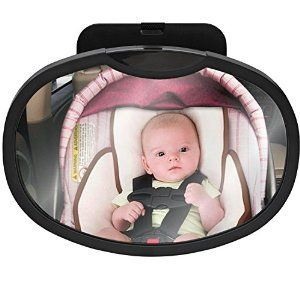I LOVE this product!! A must have while driving with your Baby!!  http://www.amazon.com/Adjustable-Oval-Shaped-Shatterproof-Sandi-Blu/dp/B00SSG9XVA/ie=UTF8?m=A3TMGVEZIAQXCD&keywords=baby+rearview+backseat+car+mirror