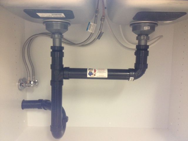 double undermount sink drain installation with dishwasher