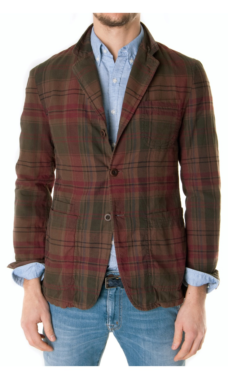 TS(S) Check cotton blazer - #ss13 #menswear  www.sansovinomoda.it
