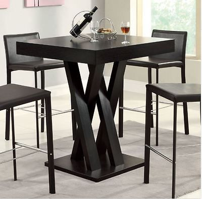 High Top Table Bar Height Dining Room Furniture Kitchen Counter Coffee  Espresso
