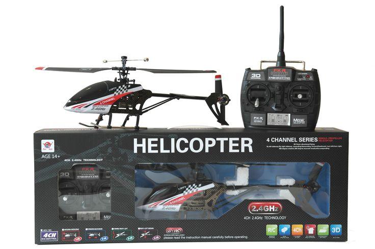 RTF RC Helikopter med gode flyve egenskaber. Nem at styre, men alligevel udfordrende for den mere øvede pilot grundet de 4 kanaler. Kan flyve frem - tilbage, op - ned, sidelæns højre - venstre, dreje til højre - venstre. Flyve indendørs eller udendørs ved lave vindhastigheder.    44 cm.   Single Rotor   Fast Pitch med Gyro   LCD monitor   2.4GHz, 4 kanals   Ca. 1 times ladetid   Ca. 8 til 10 minuters flyvetid   Rækkevidde op til ca. 50 meter