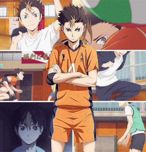 Nishinoya Yuu. Nome de uma das pessoas mais fodas do anime. Ele ja era foda nas duas primeiras temporadas, mas na terceira ele se supero. Nao é pra qualquer um receber os cortes e saques matadores do Ushijima