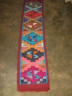 #Handgewebter #Teppich aus den #peruanischen #Anden, 150 x 30 cm