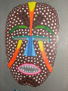 Kaitlynn's Painted African Mask