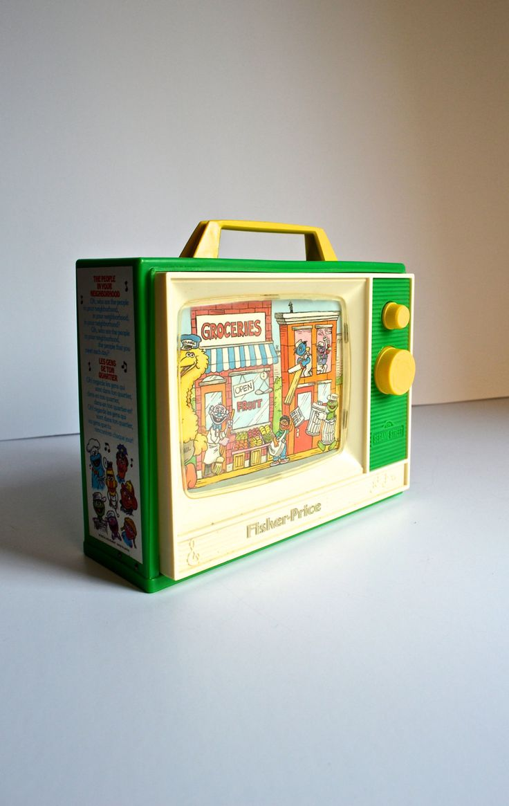 Vintage Sesame Street Television Set People in Your Neighborhood Music Box by AtomicHawks on Etsy
