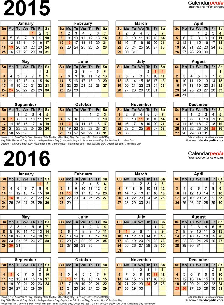 Best 25+ Year calendar 2015 ideas on Pinterest 2015 and 2016 - holiday calendar template