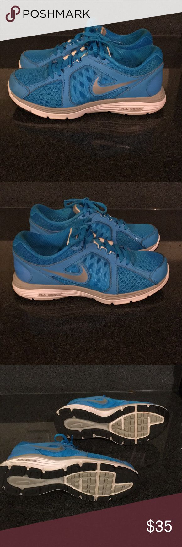 Nike Dual Fusion blue running shoe Running shoes in excellent condition. Nike Shoes Athletic Shoes