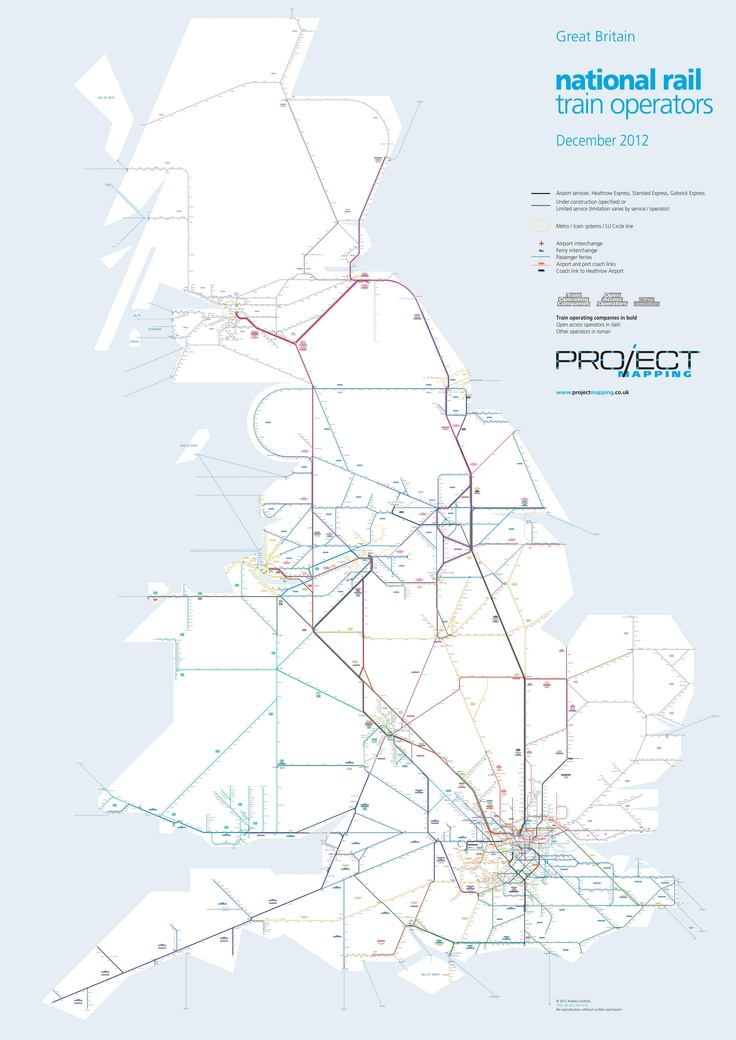 Network Rail map! Used the excuse of my maths project to print it A0