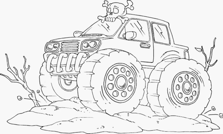 blue thunder monster truck coloring pages in 2020