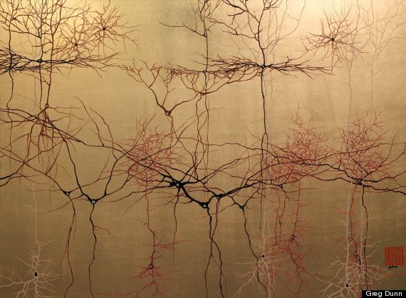 Neuroscience Art: Greg Dunns Neurons Painted In Japanese Sumi-e Style (PHOTOS, INTERVIEW)