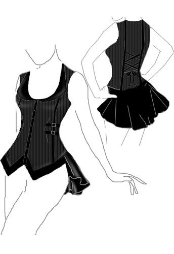 Maybe out of a button up? Mesh top, sweetheart neckline keeping buttons and collar intact, mesh around the rest of the upper half.