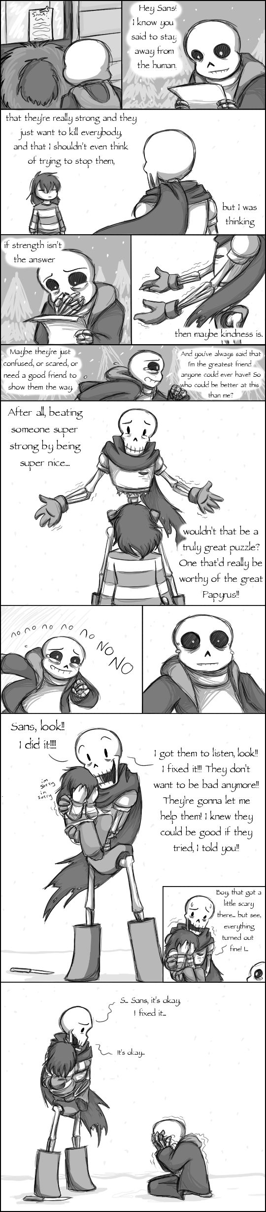 Oh my god, my feels were just murdered T^T Sans, Papyrus, & Frisk - Undertale