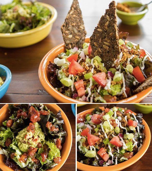 Geschichteter Taco-Rohkost-Salat für zwei | 30 leckere vegane Gerichte, die Du in nur 30 Minuten kochen kannst