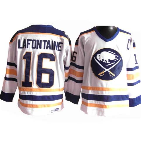 Buffalo Sabres Pat Lafontaine 16 White Authentic Jersey Sale