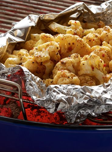 Cauliflower on the grill? It can be done! Wrap fresh, buttered cauliflower florets in aluminum foil and grill for 25 minutes. The best part: no cleanup!