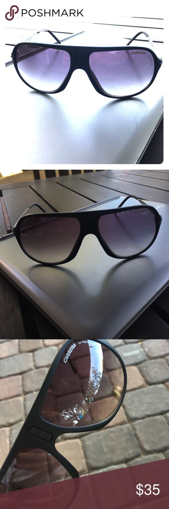 AUTHENTIC Black CARRERA Sunglasses SAFAR/IR AUTHENTIC Pre-Owned CARRERA Sunglasses Black with Grey lenses. Missing the center emblem see photos. No case will be included. They are priced accordingly. Carrera Accessories Sunglasses