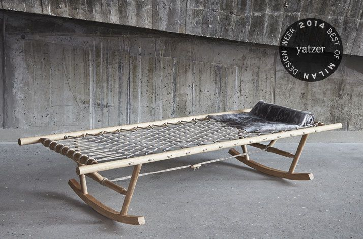 VIA Teko Design & Business School, Denmark. Enjoy the soothing swing of a hammock with NONNO, a wooden rocking daybed by Jeannett Højer. Des...
