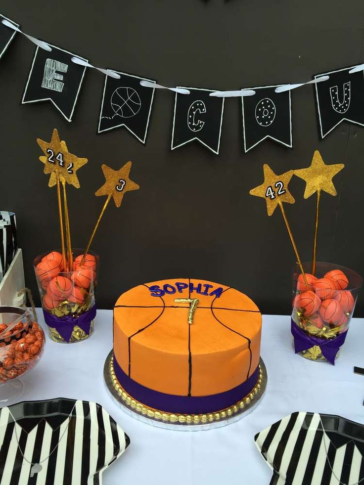 M s de 1000 ideas sobre cumplea os tem tico pelota en for Basketball craft party ideas