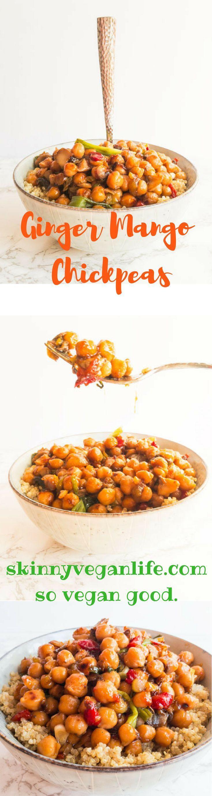 Skinny Vegan Ginger Mango Chickpeas