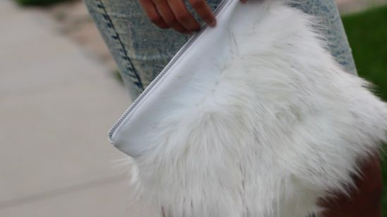 Fur/Leather Clutch How gorgeous would this be in one of our faux furs? http://www.shannonfabrics.com/index.php?main_page=index&cPath=969&view=all