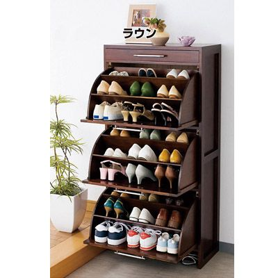 Solid wood furniture wingover door shoe entranceway japanese style furniture cabinet paulownia furniture ultra-thin 40s-the US $308.58