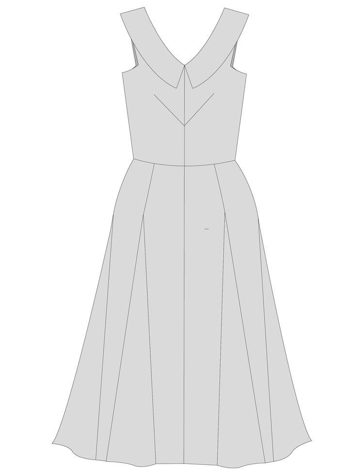 "Sophia Dress - PDF Sewing Pattern – By Hand London 5.2y 45"" or 4 y 60"" full version"