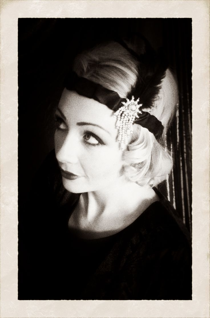 1920s flapper hair and make up vintage Brighton