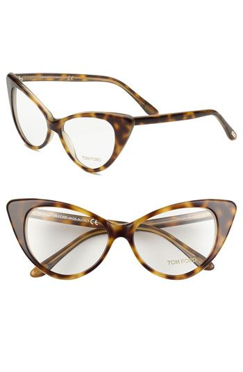 tom ford cats eye 55mm optical glasses online exclusive available at nordstrom