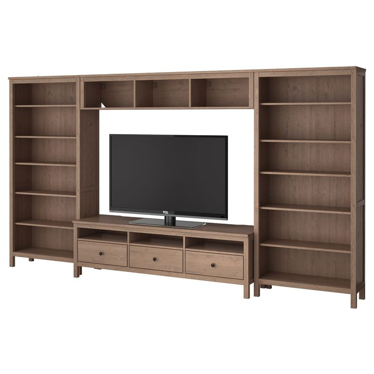 hemnes tv storage combination ikea very similar to your cb pin but at the price they have lots of glass door combo options too - Meuble Tv Ikea En Pin