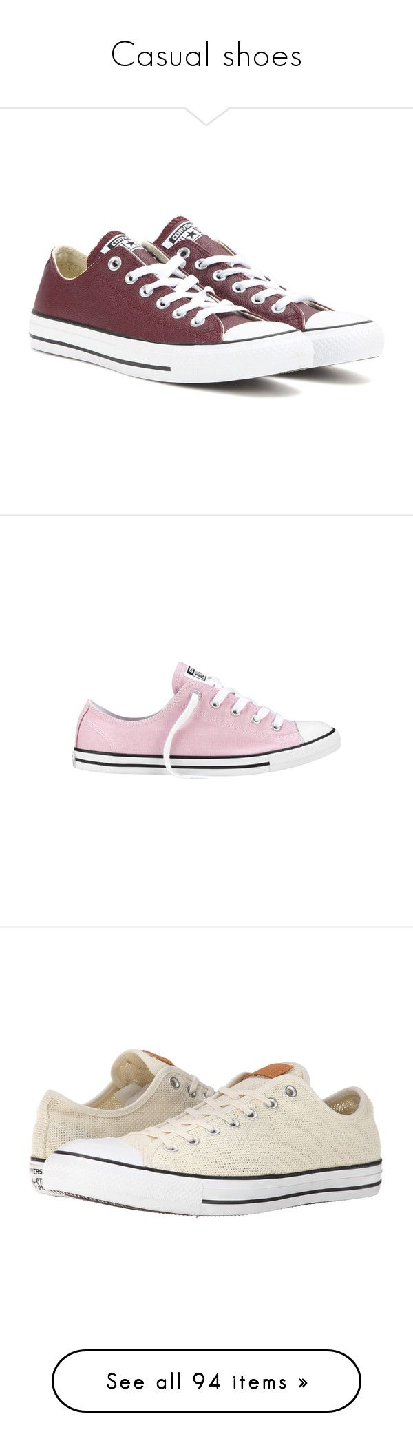 """""""Casual shoes"""" by loisanne ❤ liked on Polyvore featuring shoes, sneakers, converse, zapatos, 18. converse., red, converse shoes, leather shoes, converse sneakers and red leather sneakers"""