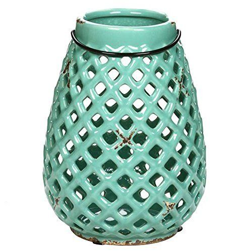 Teal Lanterns, Candles and Candle Holders