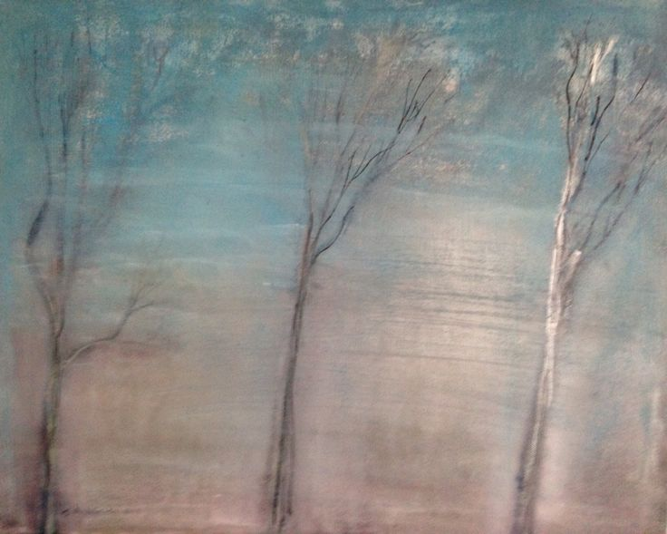 Silver birches painting