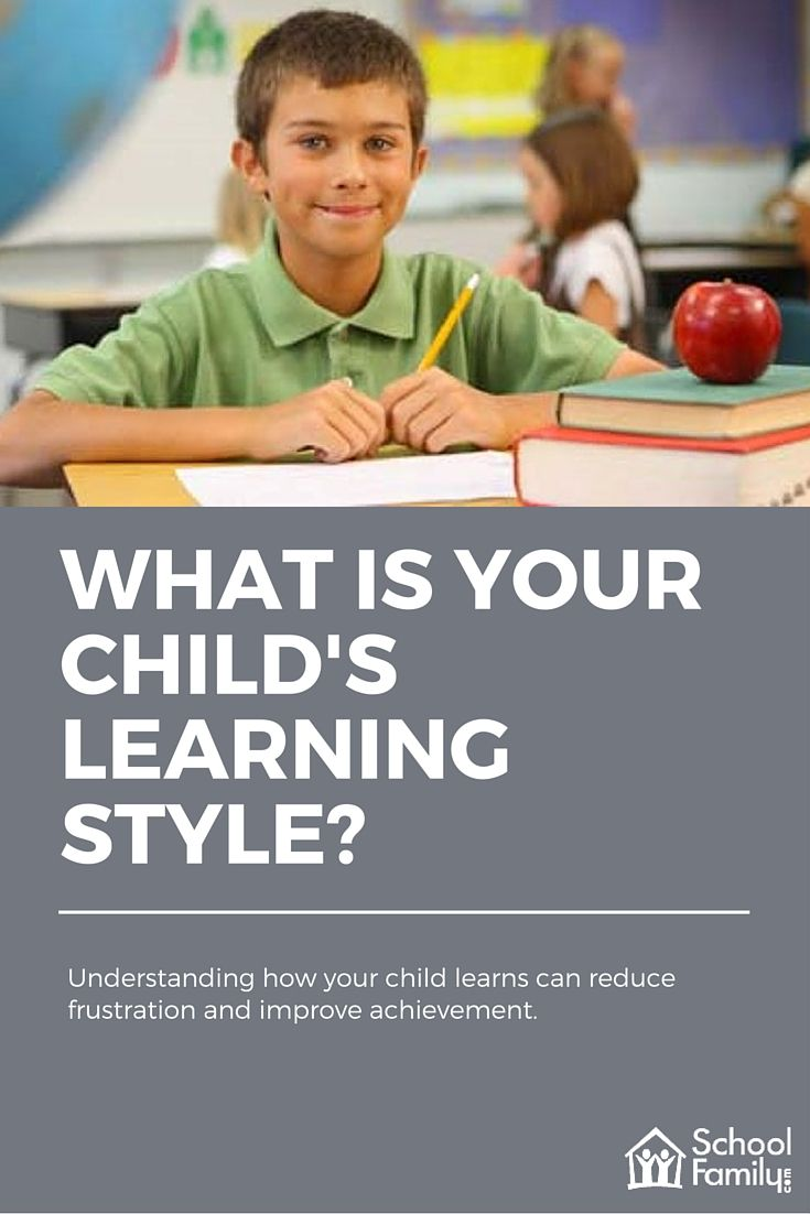Understanding how your child learns can reduce