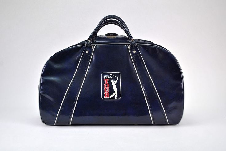 Vintage PGA Tour Golf Tournament Duffle Bag By Burton MFG, CO. Navy Blue Masters #Burton #VintageRetro