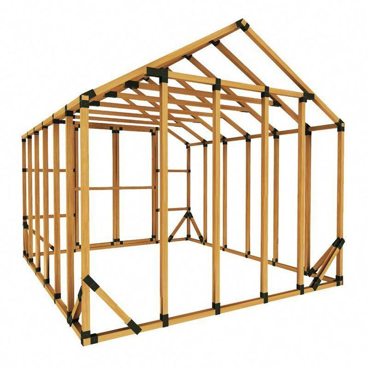 10FT W. X 12FT D. Storage Shed Kit (BRACKETS ONLY) in 2020