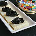 Bouchées de caviar à la tomme de savoie
