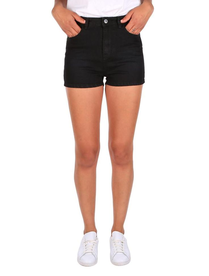 High Waist D Short [black D] *** IRIEDAILY SPRING SUMMER COLLECTION 2016 – MY CITY MY RULES – OUT NOW: https://www.iriedaily.de/blog/iriedaily-spring-summer-collection-2016-my-city-my-rules-out-now/