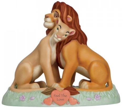 Feel The Love Lion King Simba and Nala Cake Topper - Precious Moments Disney