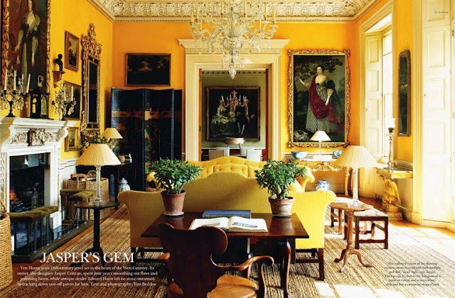 I predict that yellow is going to be everybody's favorite decorating trend soon. Not pastel but strong, vibrant, marigold yellow... like this!!