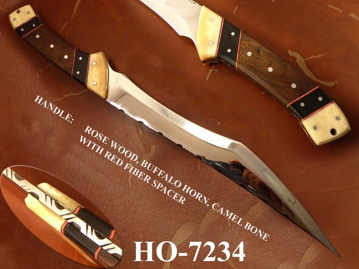 Custom Handmade 420 SS BOWIE KNIFE (For Sale) For More information Contact us: bhrcuttlery2015@gmail.com
