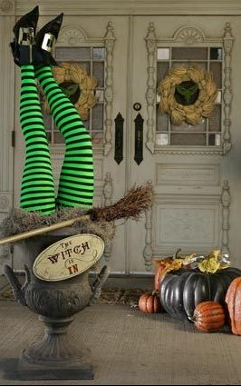 Boys would love this since they're obsessed with Wizard of Oz lately... coming out of front door maybe? :)