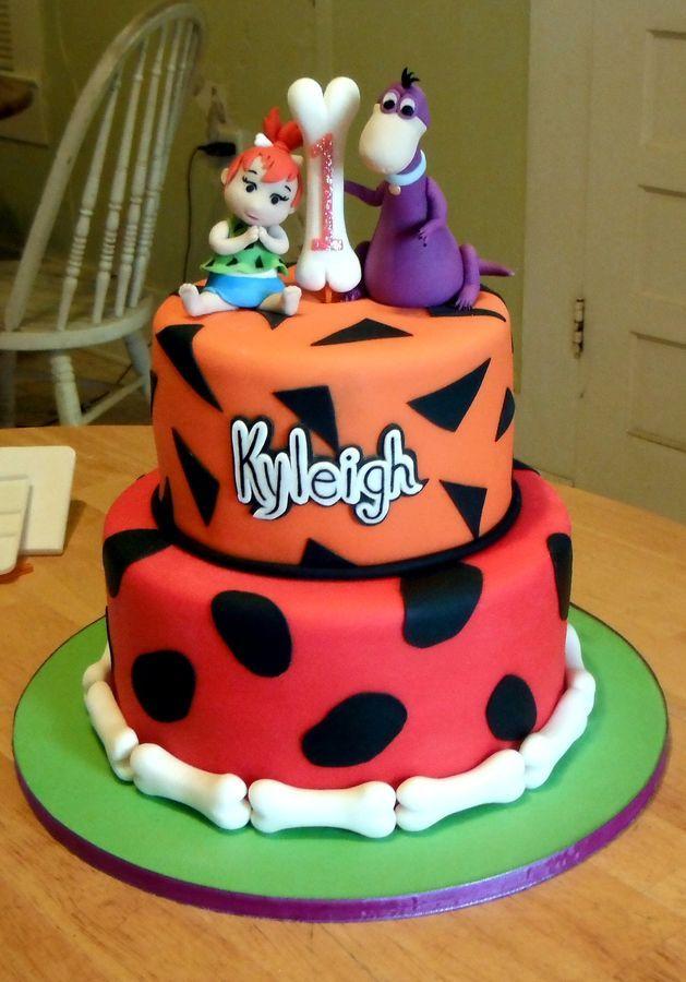 Flintstones Cake - Pebbles