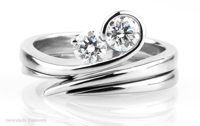 two stone ring - Google Search                                                                                                                                                                                 More