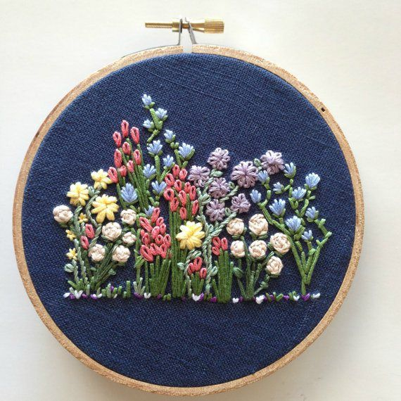 Knotty Dickens, Flower Patch, Embroidery Hoop