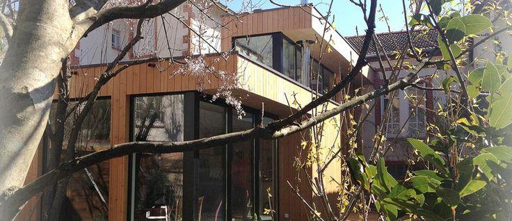 Extension ossature bois d'une maison « Toulousaine »