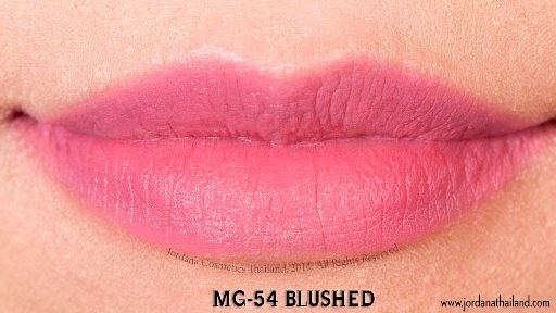 Jordana #54 matte blushed a perfect pink - on bright spring board.